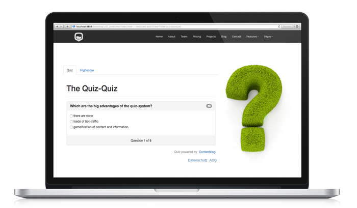 Quiz CMS - online quiz solution for your website